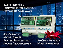 Babel Buster LonWorks to Modbus Gateways and LonWorks to BACnet Gateways
