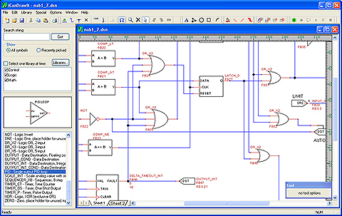 Screen shot of i.CanDrawIt graphical programming tool used to create control programs for the VP4-0610 Programmable I/O for Modbus RTU.