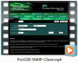 Babel Buster Pro V230 Video - Configuring SNMP Client