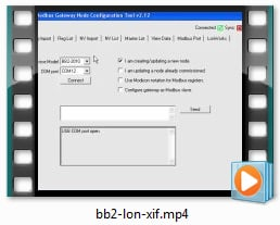BB2-2010 Video - Configure from XIF file