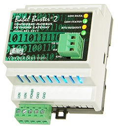 BB2-2011-NB Modbus RTU to LonWorks Gateway