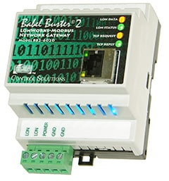 Babel Buster BB2-6020-NB LonWorks to Modbus TCP Gateway